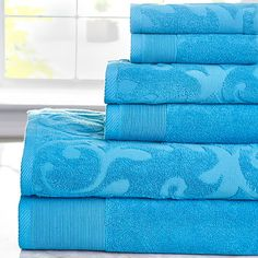 Blue towel set