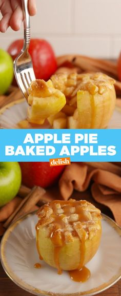 Apple Pie Baked Apples  - Delish.com