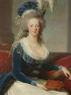 Detail from a portrait of Marie Antoinette by Elisabeth Vigee-Lebrun, 1788.[credit: © Château de Versailles, Dist. RMN-Grand Palais / Christophe Fouin]