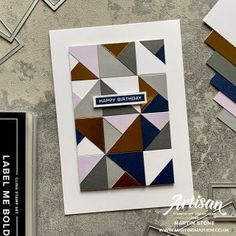 Stampin' Up! Label Me Bold Stamp Set - Martin's Mayhem Birthday For Him, Birthday Cards, Male Birthday, Right Triangle, Karten Diy, Stampin Up Catalog, Masculine Cards, Greeting Cards Handmade, Stampin Up Cards