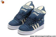 Buy Latest Listing Adidas X Jeremy Scott Big Tongue Shoes Blue White Newest Now