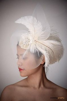 fascinators and hats | wedding hats and fascinators l amante vintage inspired bridal hat ...