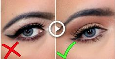Eyeliner on Hooded Eyes Hooded Eye Makeup, Eye Makeup Tips, Skin Makeup, Eyeliner On Hooded Eyes, Makeup Ideas, Halloween Gesicht, Make Up Gesicht, Rave Makeup, Pinterest Makeup