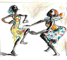 Alou Oakland | Two Dancers |