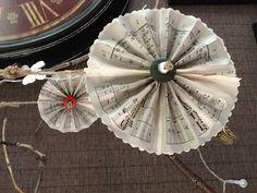 Music sheet pinwheels...