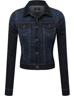 FPT Womens Cropped Denim Jacket (S-3XL) -- Read more reviews of the product by visiting the link on the image.