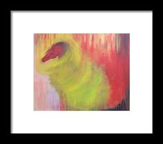 Horse In A Tornado Framed Print featuring the painting Horse In A Tornado by THELLI Helenia Tedesco