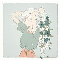 tofuvi, art, and girl Bild