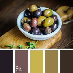 бордово-коричневый, бордовый и коричневый, горчичный цвет, зеленый, контрастное сочетание, коричневый, оливковый, оливковый цвет, оттенки оливкового, подбор цвета, фиолетовый, цвет маслин, цвет оливок, цветовое решение для дизайна, цветовое