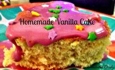 Recipe for Kids Birthday Party: Homemade Vanilla Cake - Madame Deals, Inc. - http://madamedeals.com/recipe-for-kids-birthday-party-homemade-vanilla-cake/