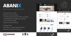 Abanix Business, Portfolio & Shop Wordpress ecommerce woocommerce  Tags: business, clean, designer, ecommerce, fashion, jquery, personal, photography, products showcase, services, shop, studio