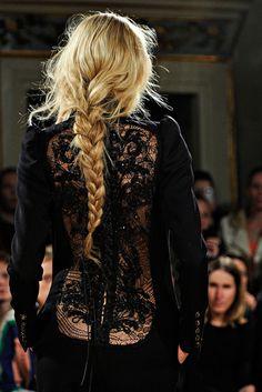 Black lace couture