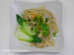 Wan Tan Suppe fertig Pork Soup, Tacos, Ethnic Recipes, Food, Asian Soup, Eten, Meals, Diet