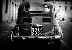 Fiat 500 Black and White Italy by ~EuroFlash on deviantART