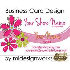 Business Card Design  Retro Business Card  by MLDesignWorks, $15.00