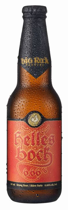 Helles Bock is a blonde lager brewed to bock strength but lighter in colour than the typical darker bock beers of fall. With an alcohol content of 6.66% this brew has a delicious sweet malty flavour and aroma balanced by German Hallertau hops.