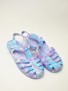 Size Uk 4 Funky Jelly Shoes Festival Shoes Retro Beach Shoes