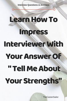 "Learn how to answer interview question ""Tell Me About Your Strengths"" differently to impress the interviewer and increase your selection chances. Job Interview Answers, Job Interview Preparation, Interview Questions And Answers, Job Interview Tips, Job Interviews, Interview Techniques, Job Resume, Resume Tips, Resume Examples"
