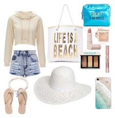 """Beachy"" by victoriapond on Polyvore featuring Nasty Gal, Aéropostale, L'Oréal Paris, Pinch Provisions, Lipstick Queen, Bobbi Brown Cosmetics, Kendra Scott, Gray Malin and Dorothy Perkins"