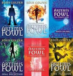 Artemis Fowl Series by Eoin Colfer. Last two books not pictured. Even though I haven't read the last book yet, I love this series. It's creative and light hearted and funny. It shows the amazing change in a boy who is willing to do anything to get what he wants to someone working for the greater good.