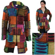 A Coat of Many Colors Hooded Long Jacket is a brilliant fair trade purchase that will help preserve 2 acres of rainforest!