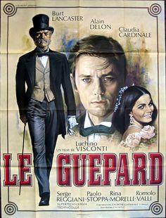 """""""le guépard"""" de Visconti avec Alain Delon, Claudia Cardinale et Burt Lancaster."""