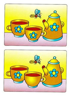 . Spot The Difference Kids, Find The Difference Pictures, House Drawing For Kids, Art Drawings For Kids, Free Preschool, Kindergarten Worksheets, Kids Learning Activities, Infant Activities, Cute Powerpoint Templates