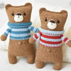 Lazybones bear amigurumi pattern by lilleliis