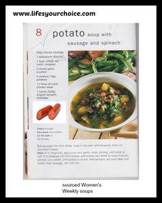 Yummy soup. #recipe #food #soup #potato #spinach #sausage