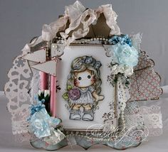 Audhilds Hobbyblogg Mo Manning, Magnolias, Mini Albums, Handmade Cards, Card Ideas, Little Girls, My Love, Magnolia Stamps, Magnolia Trees