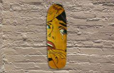 Jason Rowland aka R6D4 -stencil, aerosol, wood, food coloring  #jasonrowland…