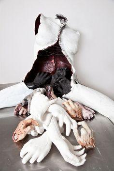 Online store selling original art works by the artist Sarah Best NY sculpture mixed media collage Soft Sculpture, Sculptures, Textile Sculpture, Mannequin Art, A Level Art, Ap Art, Horror Art, Oeuvre D'art, Installation Art