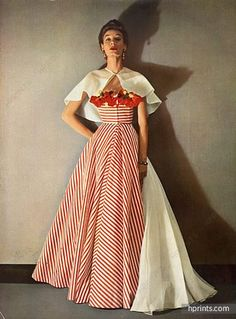 Grès (Germaine Krebs) 1953 Evening Gown, Photo Pottier, Staron, Lajoinie