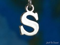 Letter S Charm Sterling Silver Alphabet Initial by jewelbecharmed, $7.95