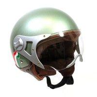 Seems Vintage green vespa helmet And