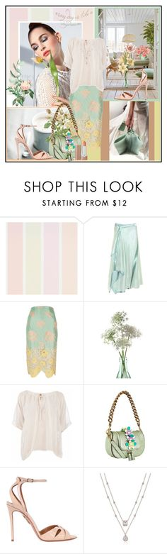 """""""♥️ Every day is like a daydream ♥️"""" by fantasy-rose ❤ liked on Polyvore featuring Sies Marjan, River Island, Conquista, Anya Hindmarch, Aquazzura and Marc Jacobs"""