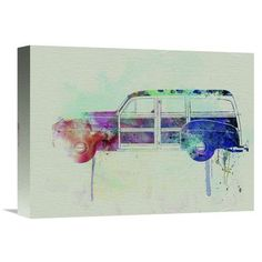 Naxart 'Ford Woody' Painting Print on Wrapped Canvas Size: