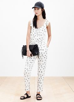 24 Reasons To Trust Your Style Instincts #refinery29  http://www.refinery29.com/madewell-spring-2014#slide-18  Daytime jumpsuit, nighttime bag. Why not?