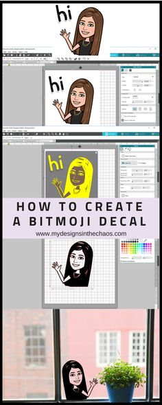 Fabric Designs How to Create a Bitmoji Decal - My Designs In the Chaos - A bitmoji decal is the perfect way to personalize your items. In this tutorial we will walk you through the process of how to create a bitmoji decal. Silhouette Cameo Tutorials, Silhouette Projects, Silhouette Design, Silhouette Files, Silhouette Studio, Silhouette Cameo Fonts, Silhouette School, Inkscape Tutorials, Cricut Tutorials