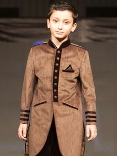 3337 boys Sherwani Price Rs. 5,670/- To place an order visit: http://www.edenrobe.com/3337_Boys_Sherwani?filter_name=3337