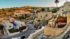 Small village in Santorini