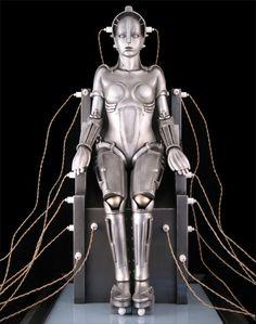 Metropolis Fritz Lang's German expressionist science-fiction) Metropolis Robot, Metropolis Film, Metropolis Poster, Vintage Robots, Retro Robot, Tv Movie, Sci Fi Movies, Arte Robot, Robot Art