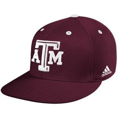 "adidas Texas A&M Aggies Maroon On Field Fitted Hat by adidas. $19.99. Features Clima-lite material. Texas A&M Official on field cap. Adidas On Field Cap. Adidas maroon official ""on field"" baseball cap with adidas logo on left side and T-Star embroidered on the back in white."