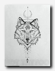 Image result for wolf tattoo for women