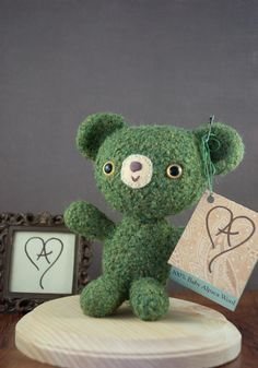 O'Reilly - St. Patrick's Day Teddy Bear - OOAK Baby Alpaca Wool Felted - etsy.com