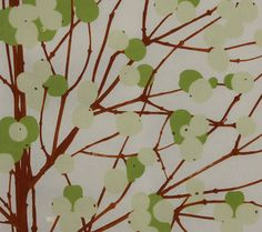 Latest Designer Fabric 'Lumimarja in Greens and Brown' by Marimekko (FIN). Fabric Blinds, Curtains With Blinds, Roman Blinds, House Blinds, Blinds For Windows, Bedroom Blinds, Shutter Blinds, Outdoor Blinds, Faux Wood Blinds