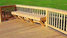 Deck Railing Ideas Easy | Add Simple Seating Areas with Attractive Deck Benches