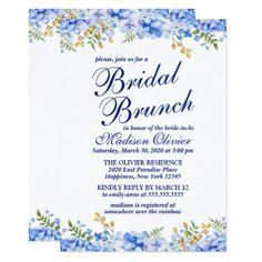 #bride - #Floral Watercolor Modern Bridal Brunch Card