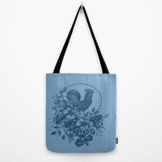 Abstract Acrylic Painting ROOSTER II Tote Bag by Saribelle Inspirational Art | Society6