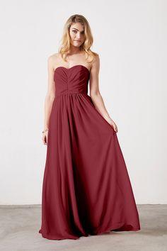 Weddington Way Everley Bridesmaid Dress in Burgundy in Chiffon